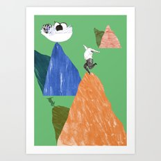 Reaching for the healthy options Art Print
