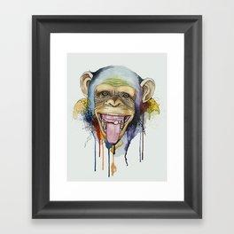 monkey 2 Framed Art Print