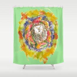 Happy as a Hedgehog Shower Curtain