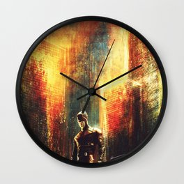 A Line In The Fire Wall Clock