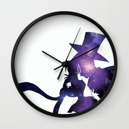 Sailor Moon Tuxedo Mask - Purple Galaxy Wall Clock