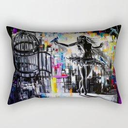 Cage (The ballerina and the three bird christmas dance) Rectangular Pillow