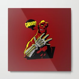Groovy! Metal Print