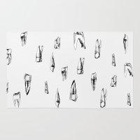teeth Area & Throw Rugs featuring teeth by singingsaw