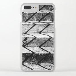 Shadows on the stairs Clear iPhone Case