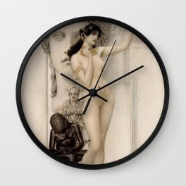 ALLEGORY OF SCULPTURE - GUSTAV KLIMT Wall Clock