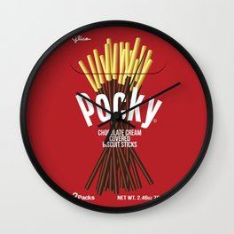 Pocky Packaging - The Original Wall Clock