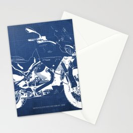Motorcycle blueprint,2010, Moto Guzzi Stelvio, 1200 4V,poster,man cave decoration,vintage art Stationery Cards
