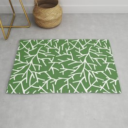Branches - green Rug