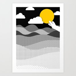 Bring Your Own Sunshine- Quote Print Art Print