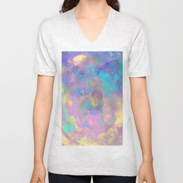 PLAY TAG WITH A SNAKE, a psychedelic art piece of a great escape through space Unisex V-Neck