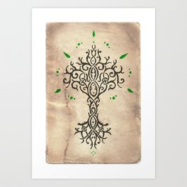 Tillmoriăn Tree of Truth Art Print