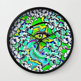 love of the tranquility flower forest pop-art Wall Clock