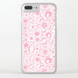 Pink , fishnet , lace Clear iPhone Case