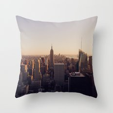 another Empire State Building shot | colored Throw Pillow