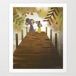 Jetty Mice Art Print