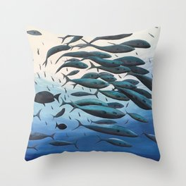 School of Fish Throw Pillow