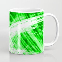 Explosive fibers of light threads with green energy of futuristic abstraction.  Coffee Mug