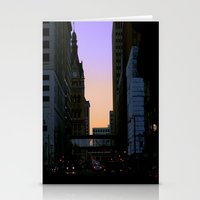 cityscape Stationery Cards featuring Cityscape by Tatum Kevlin