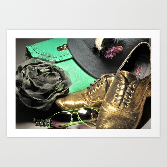 Shoe ad composition 4 Art Print