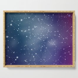 Zodiac Signs Constellations Gradient Shine Serving Tray