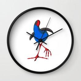 Kooky Pukeko 4/4 Wall Clock