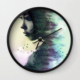 CONTEMPLATION FOREST Wall Clock