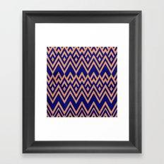 Blue Pines Vintage Pattern Framed Art Print