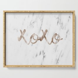 Rose gold marble XOXO Serving Tray
