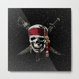 The Swords Of Pirates Metal Print
