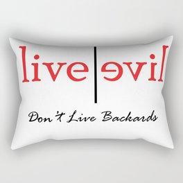 Dont live Backwards Rectangular Pillow