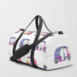 Funky rickshaws pattern Duffle Bag