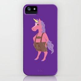 Unicorn In My Lederhosen iPhone Case