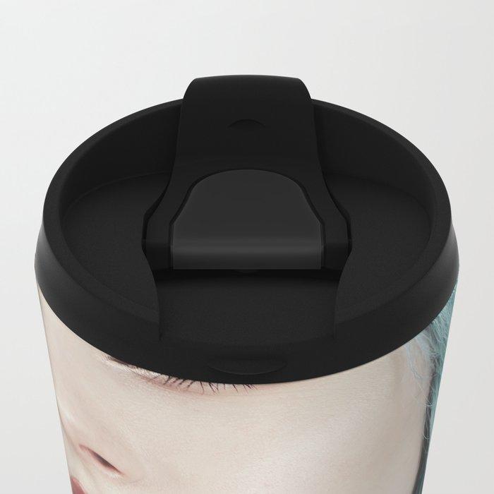 Green hair Metal Travel Mug