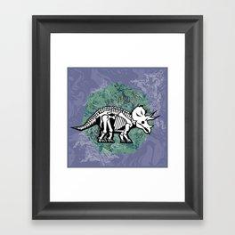 Triceratops Fossil Framed Art Print