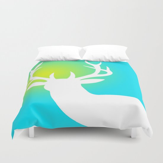 The White Deer  Duvet Cover