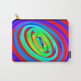Colorful Concentric Rings Carry-All Pouch