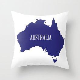 Australia Map Silhouette Throw Pillow