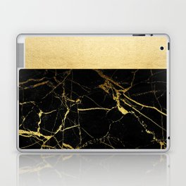 Gold and Black Marble Laptop & iPad Skin