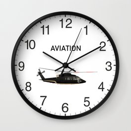 Black and Beige Stylish Helicopter Wall Clock