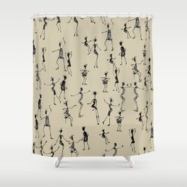 stick people in action Shower Curtain