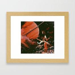 Jimmy & Saturn Framed Art Print