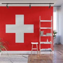 Swiss Flag of Switzerland Wall Mural