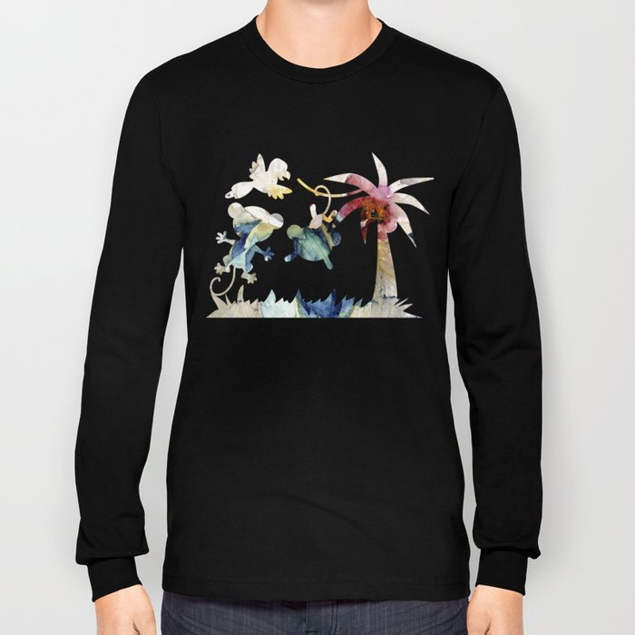 in jungle water color Long Sleeve T-shirt