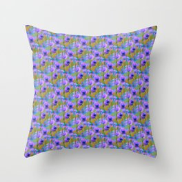 BLOOMING POPPIES PATTERN II Throw Pillow