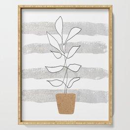 Scandi Plant Serving Tray
