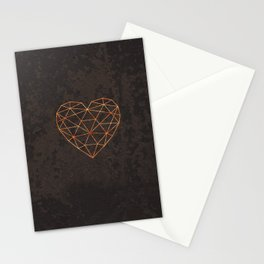 COPPER HEART Stationery Cards