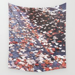 Autumn leaves, colours, bikeways in Vancouver, BC Wall Tapestry