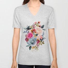 Autumn Rose Unisex V-Neck