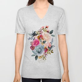Autumn Rose Unisex V-Neck